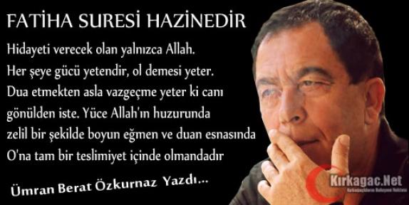 ÜMRAN BERAT ÖZKURNAZ 'FATİHA SURESİ HAZİNEDİR'