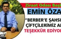 """ÖZARI """"RECAİ BERBER'E TEŞEKKÜR EDİYORUZ"""""""