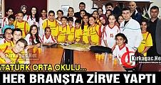 ATATÜRK ORTAOKULU SPOR'DA ZİRVE YAPTI