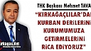 """TAVAS """"KIRKAĞAÇLILAR'DAN KURBAN DERİLERİNİ KURUMUMUZA GETİRMELERİNİ RİCA EDİYORUZ"""""""