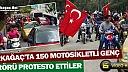 KIRKAĞAÇ'TA MOTOSİKLETLİ GENÇLERDEN TERÖRE TEPKİ