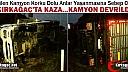 KIRKAĞAÇ'TA  KAZA.. KAMYON DEVRİLDİ 1 YARALI
