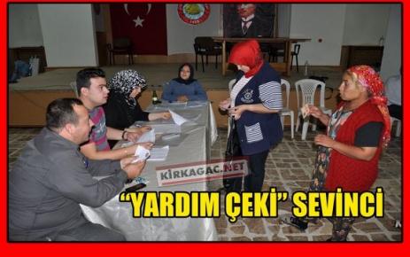 """'YARDIM ÇEKİ"""" SEVİNCİ"""