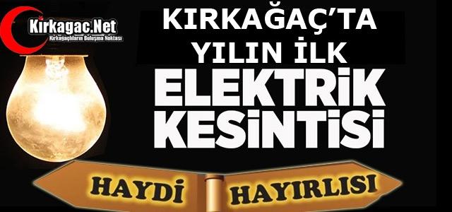 YENİ YILIN İLK ELEKTRİK KESİNTİSİ 'TEPKİ ÇEKTİ'