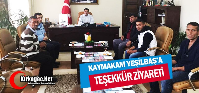 YILDIZSPOR'DAN KAYMAKAM DR.YEŞİLBAŞ' A ZİYARET