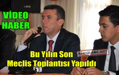 YILIN SON TOPLANTISI YAPILDI