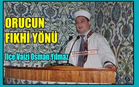 YILMAZ 'ORUCUN FIKHİ YÖNÜ'