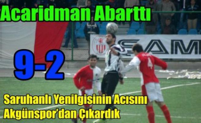 Acaridman Akgün'de Gol Şov Yaptı 9-2