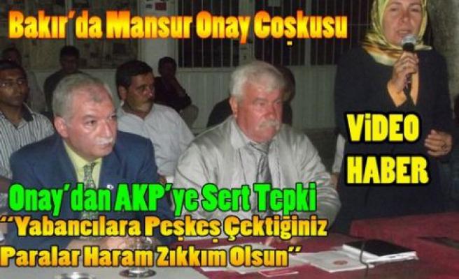 """Bakır'da """"Mansur Onay"""" Coşkusu"""