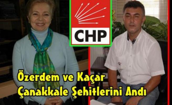 CHP Çanakkale Şehitlerini Unutmadı