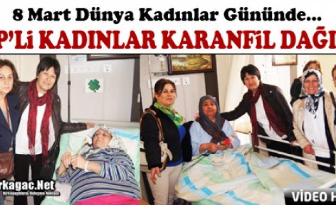 CHP'Lİ KADINLAR KARANFİL DAĞITTI(VİDEO)
