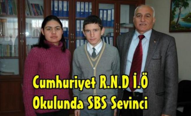 """Cumhuriyet İ.Ö Okulunda """"SBS""""Sevinci"""