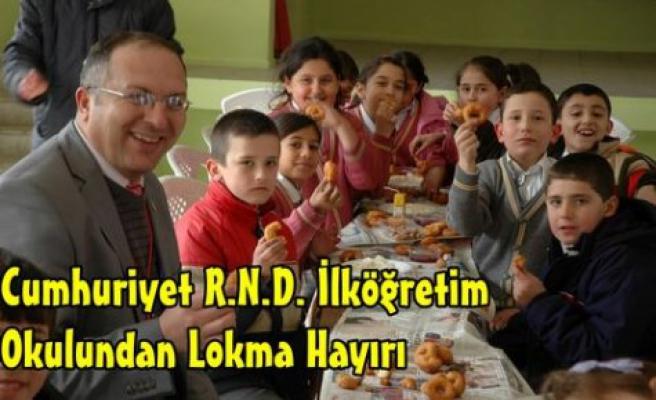 Cumhuriyet İ.Ö Okulundan Lokma Hayırı