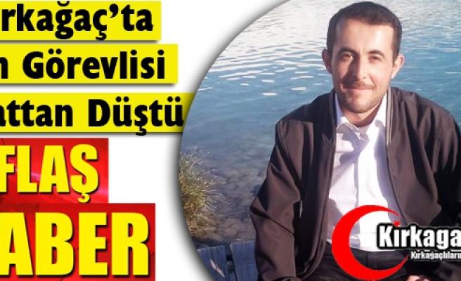 FLAŞ HABER.. DİN GÖREVLİSİ 5.KATTAN DÜŞTÜ