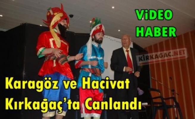 Karagöz ve Hacivat Kırkağaç'ta Canlandı(VİDEO)