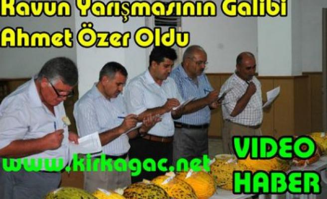 Kavun Yarışmasının Galibi Ahmet Özer(VİDEO HABER)