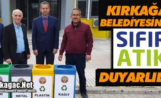"""KIRKAĞAÇ BELEDİYESİ'NDEN """"SIFIR ATIK"""" DUYARLILIĞI"""