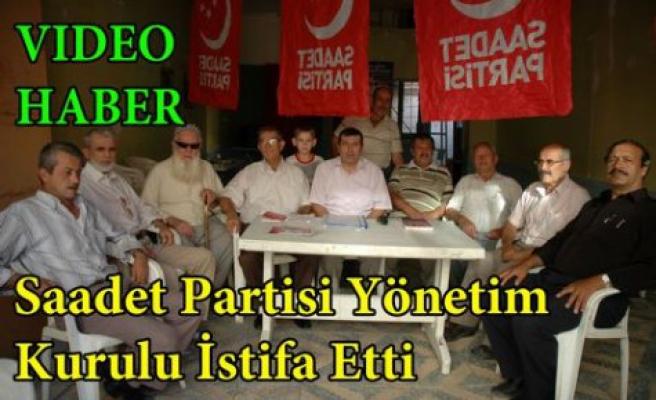 Kırkağaç Saadet Partisin'de Şok İstifalar(VİDEO)