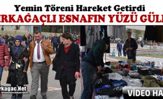 """KIRKAĞAÇLI ESNAFIN YÜZÜNÜ """"YEMİN TÖRENİ"""" GÜLDÜRDÜ(VİDEO)"""