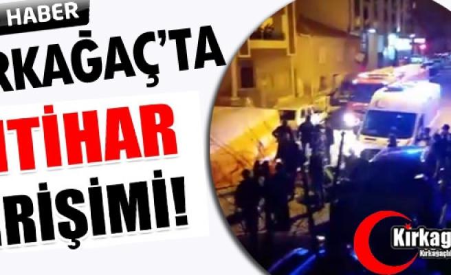 KIRKAĞAÇ'TA İNTİHAR GİRİŞİMİ(VİDEO)