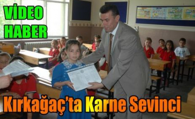 KIRKAĞAÇ'TA KARNE SEVİNCİ(VİDEO)