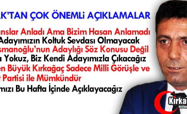 """KOÇAK """"HANSLAR ANLADI AMA BİZİM HASAN ANLAMADI"""""""
