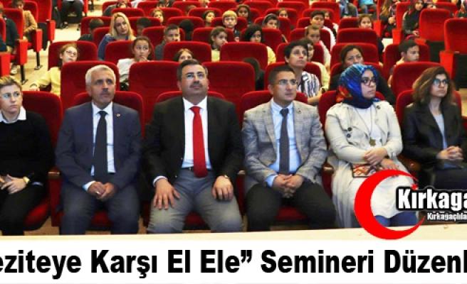 """""""OBEZİTEYE KARŞI EL ELE"""" SEMİNERİ DÜZENLENDİ"""