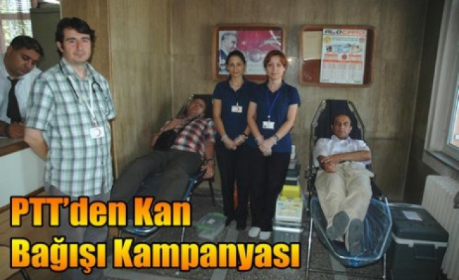 PTT'den Kan Bağışı Kampanyası