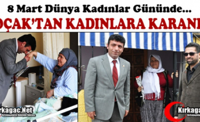 SAADET PARTİSİ'NDEN KADINLARA KARANFİL