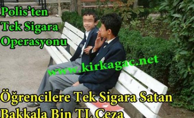 """""""Tek Sigara"""" Satan Bakkala Bin TL Ceza"""