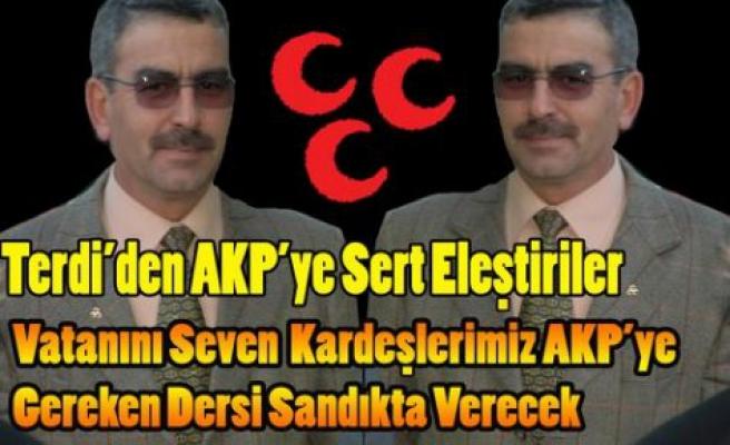TERDİ'DEN AKP'YE ÇOK SERT AÇIKLAMA