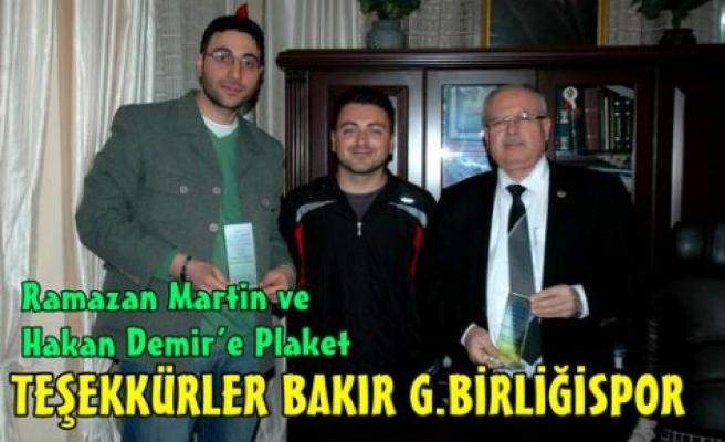 TEŞEKKÜRLER BAKIR G.BİRLİĞİSPOR