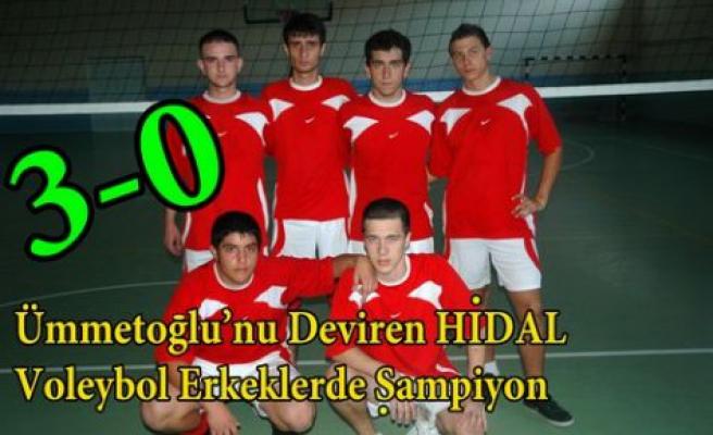 Voleybol Erkeklerde de Şampiyon HİDAL 3-0