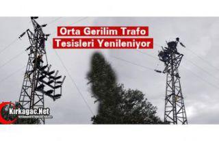KIRKAĞAÇ'TA ORTA GERİLİM TRAFO TESİSLERİ...