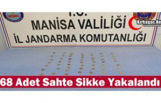 68 ADET SİKKE YAKALANDI