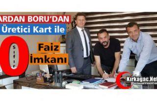 """ARDAN BORU'DAN """"ÜRETİCİ KARTLA"""" SIFIR FAİZ..."""