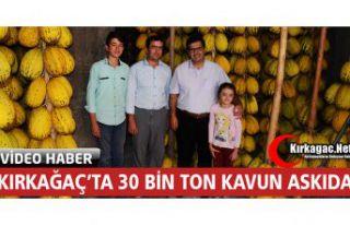 KIRKAĞAÇ'TA 30 BİN TON KAVUN ASKIDA(ÖZEL HABER)