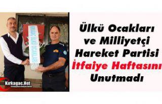 """MHP ve ÜLKÜ OCAKLARI """"İTFAİYE HAFTASINI""""..."""