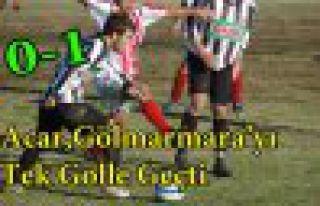 Acaridman,Gölmarmara'yı Tek Golle Geçti 1-0