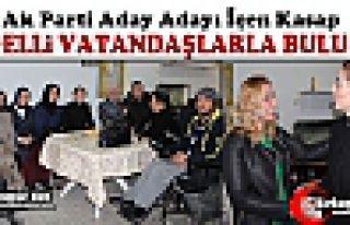 AK PARTİLİ İÇEN KASAP ENGELLİ VATANDAŞLARLA...