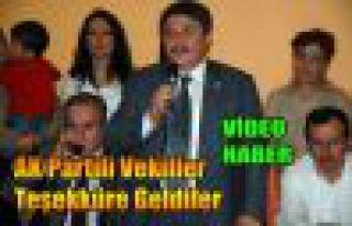 AK Partili Vekiller Teşekküre Geldiler(VİDEO)