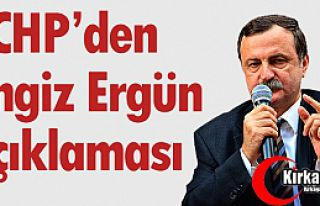 """CHP'DEN """"CENGİZ ERGÜN"""" AÇIKLAMASI"""