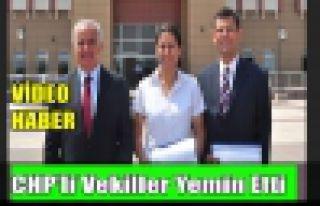 CHP'li Vekiller Yemin Etti(VİDEO)