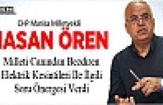 HASAN ÖREN'DEN ELEKTRİK KESİNTİLERİ İÇİN SORU...