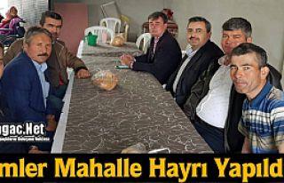 HELİMLER MAHALLE HAYRI YAPILDI