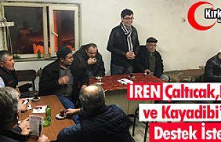 İREN, KAYADİBİ, ÇALTICAK ve IŞIKLAR'DA DESTEK...