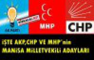 İŞTE AKP ve MHP'nin MANİSA ADAYLARI..