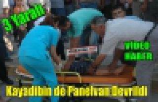 KAYADİBİN DE PANELVAN DEVRİLDİ 3 YARALI(VİDEO)