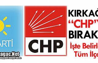 """KIRKAĞAÇ """"CHP'YE"""" BIRAKILDI"""