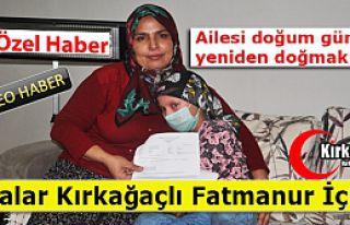 KIRKAĞAÇLI FATMANUR YARDIM ELİ BEKLİYOR(ÖZEL...